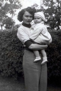 My grandmother with my  mom or one of my aubts.